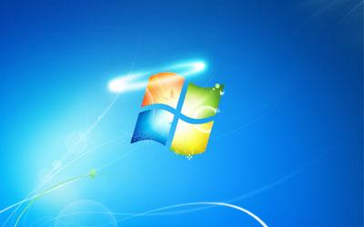 Das Windows Logo mit einem Heiligenschein